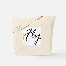 I Fly (black) Tote Bag