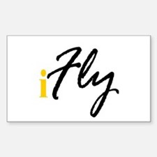 I Fly (black) Rectangle Decal