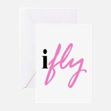 I Fly (pink) Greeting Cards (Pk of 10)