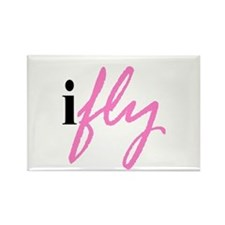 I Fly (pink) Rectangle Magnet