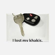 I lost my khakis. Rectangle Magnet