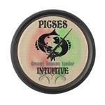 Intuitive Pisces Large Wall Clock