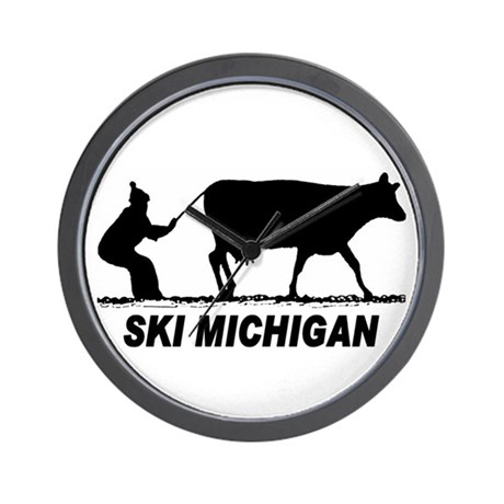 The Ski Michigan Shop Wall Clock