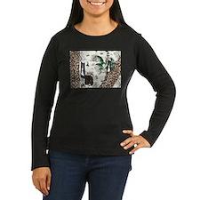 Gatsby In Paris II Ladies Long Sleeve Dark T-Shirt