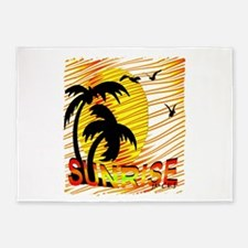 summertime sunrise art illustration 5'x7'Area Rug