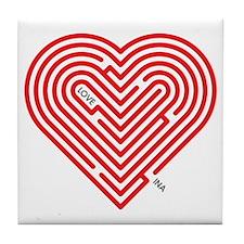 I Love Ina Tile Coaster