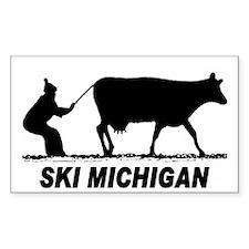 The Ski Michigan Shop Rectangle Decal