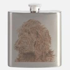 Chocolate Labradoodle 5 Flask