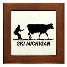 The Ski Michigan Shop Framed Tile