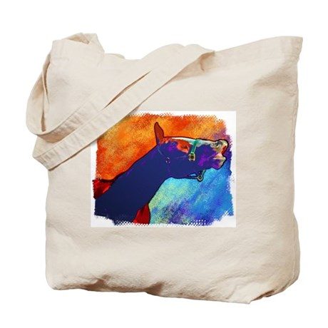 Colorful Horse Art Smile, Tote Bag