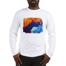 Colorful Horse Art Smile, Long Sleeve T-Shirt