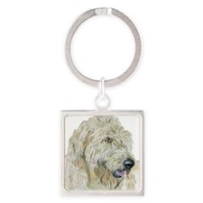 GingerT.png Square Keychain
