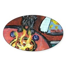 Bouvier pizza eater Oval Decal