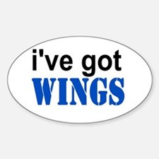 I've got Wings Oval Decal