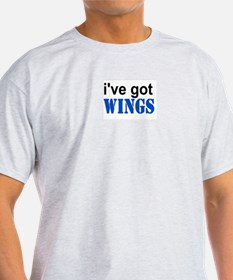 I've got Wings Ash Grey T-Shirt