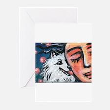 Eskie kiss Greeting Cards (Pk of 10)