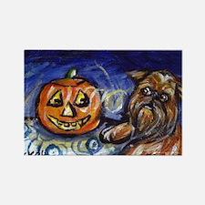 Griff investigates pumpkin Rectangle Magnet