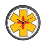 New Mexico Star Of Life EMS Wall Clock