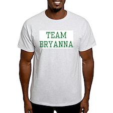 TEAM BRYANNA  Ash Grey T-Shirt