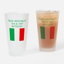 Italian Proverb Two Sides Drinking Glass