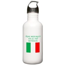 Italian Proverb Two Sides Water Bottle