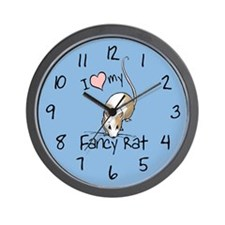 I Love My Fancy Rat Wall Clock