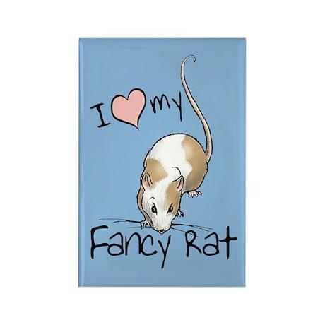 I Love My Fancy Rat Rectangle Magnet