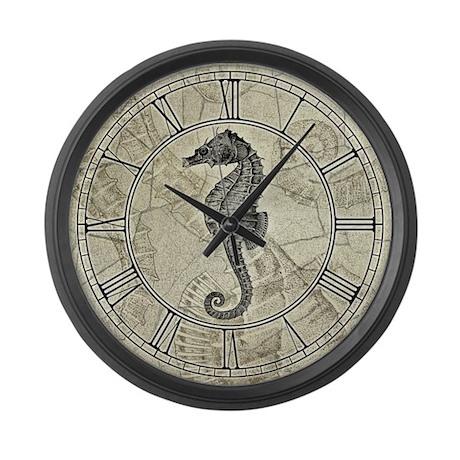 Seahorse Large Wall Clock