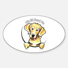 Golden Retriever IAAM Sticker (Oval)