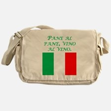 Italian Proverb Bread And Wine Messenger Bag
