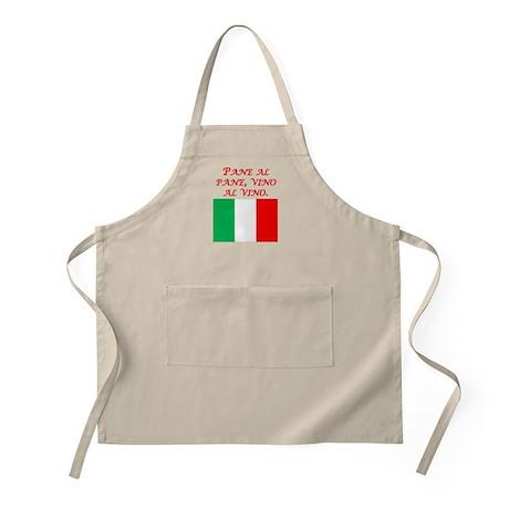 Italian Proverb Bread And Wine Apron