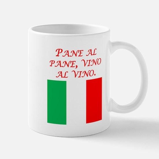 Italian Proverb Bread And Wine Mug