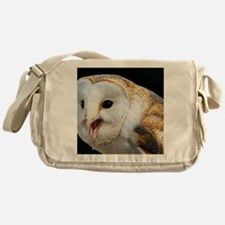 Barn owl calling - Messenger Bag