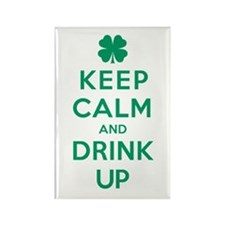 Keep Calm and Drink Up Rectangle Magnet