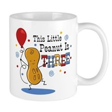 Little Peanut 3rd Birthday Small Mugs
