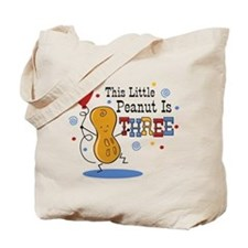 Little Peanut 3rd Birthday Tote Bag
