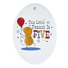 Little Peanut 5th Birthday Ornament (Oval)