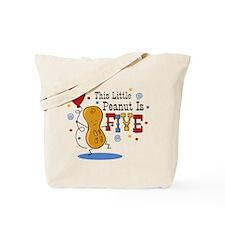 Little Peanut 5th Birthday Tote Bag