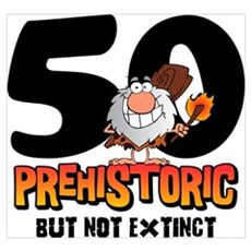 Prehistoric 50th Birthday Wall Art Canvas Art
