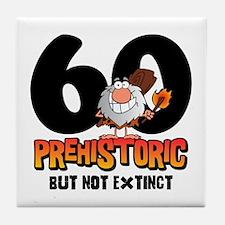Prehistoric 60th Birthday Tile Coaster