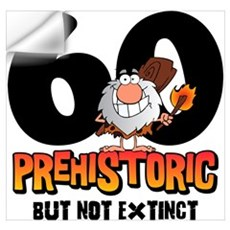 Prehistoric 60th Birthday Wall Art Wall Decal
