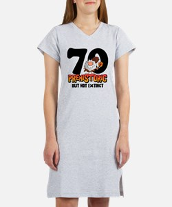 Prehistoric 70th Birthday Women's Nightshirt