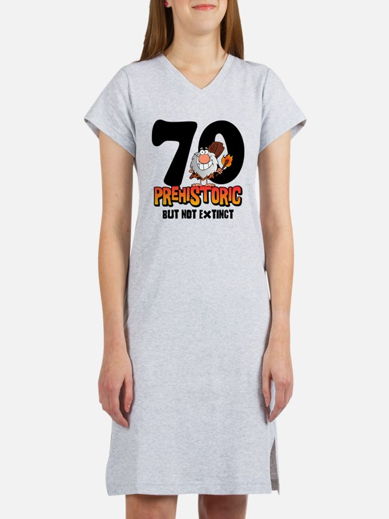 Prehistoric 70th Birthday Women's Nightshirt