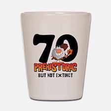 Prehistoric 70th Birthday Shot Glass