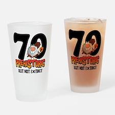 Prehistoric 70th Birthday Drinking Glass