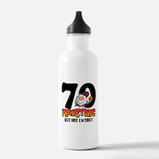 Prehistoric 70th Birthday Water Bottle