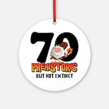 Prehistoric 70th Birthday Ornament (Round)