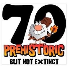 Prehistoric 70th Birthday Wall Art Canvas Art