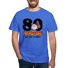 Prehistoric 80th Birthday T-Shirt