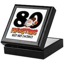 Prehistoric 80th Birthday Keepsake Box
